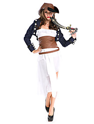 Costumes - Pirate - Féminin - Halloween - Manteau/Robe/Corset/Chapeau