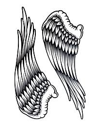 1Pc Yimei Tattoo Stickers Large Size/Waterproof Animal Series Women/Men/Adult/Teen Black Wing Pattern 34.2cm*22.5cm
