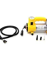 12v fluxo compressor de ar Tirol portátil super-bomba de ar do carro 150psi com luz e farol / auto pneu inflator