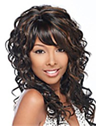 Fashion Mix Color Long Curly Woman's Synthetic Wigs Hair Freeshipping
