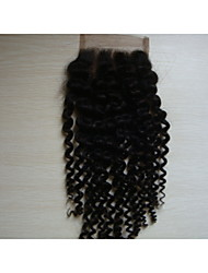 Full Lace / Hand Tied Kinky Curly Human Hair Closure Swiss Lace 20g-50g gram Average Cap Size