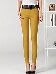 Women's Casual Micro Elastic Medium Skinny  Pants (Cotton)