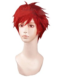 Angelaicos  Mens Layered Red Short Halloween Costume Party Cosplay Wig for Gekkan Shoujo Nozaki-kun Mikoshiba Mikoto