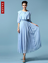 Yalun™ The Latest Fashion Women's Shawl Collar Slim Elegant Casual Dress