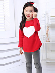 Girls' Print Sets,Cotton Spring Summer Fall Long Sleeve Clothing Set