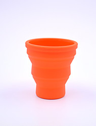 al aire libre de silicona retráctil taza 200ml (color al azar)