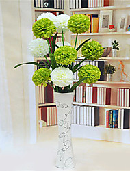 White Green Mixed Hygrangeas Artificial Flowers With Vase