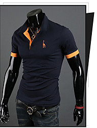 Super HotMen's Casual Shirt Collar Short Sleeve T-Shirts
