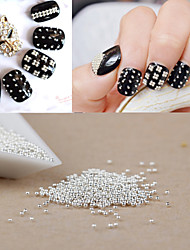 1000PCS Personality Punk Manicure Beads Silver Nail Art  Powder Beads