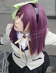 Parrucche Cosplay Tokyo Ghoul Cosplay Viola Medio Anime Parrucche Cosplay 60 CM Tessuno resistente a calore Donna