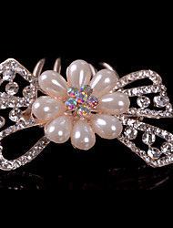 Bowknot Alloy Hair Combs With Imitation Pearl/Rhinestone Wedding/Party Headpiece