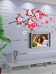 Chinese Style Peach Blossom Shaped Bedroom/ TV Wall Sticker