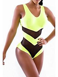 Women's Halter Bikinis , Solid/Mesh Wireless Ice Silk Multi-color