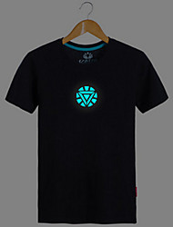 Iron Man Noctilucent Black Cotton Cosplay T-Shirt