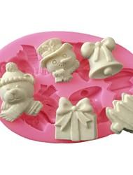 3D Fondant Silicone Cake Mold Christmas Festival Silicone Mold