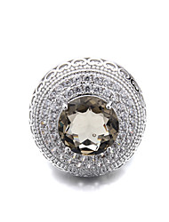 Beautiful CZ Ladies Brass  New  Ring(More Colors)