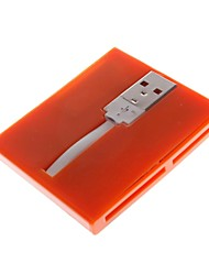 836 USB 2.0 480MBPS Five in One Memory Card Reader Supports TF/SD/MS/M2 and MINI SD(Assorted Colors)