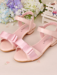 Girls' Shoes Dress Low Heel Comfort Peep Toe Leather Sandals Pumps/Heels More Colors available
