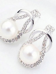 Women's Alloy Drop Earrings With Pearl/Rhinestone(More Color)