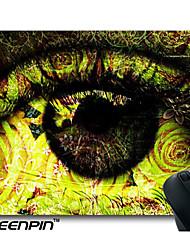 seenpin plaquettes conception de souris de texture floral vert oculaires oeuvre personnalisé