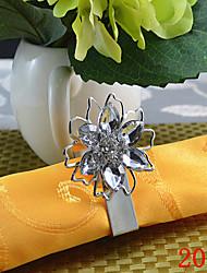 bague en diamant fleur serviette