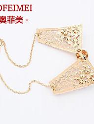 Europe and America pearl diamond pendant necklace