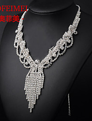 Korean Fashion wings fringed necklace bride wedding dress accessories