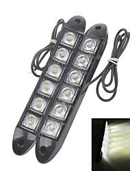 High Power Flexible 6000K White Light LED Car Daytime Running Light