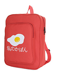 Unisex Egg Print Zipper Pocket Backpack