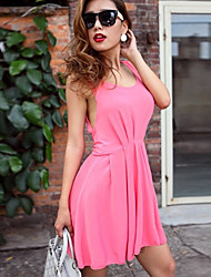 Women's Sexy Backless Camisole High Waist Sleeveless Dress