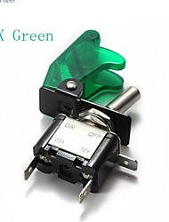 5x Green(Or Blue/Red)Car Cover LED SPST Toggle Rocker Switch Control 12V 20A
