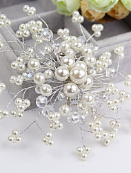 Women's Flower Girl's Crystal Imitation Pearl Headpiece-Wedding Special Occasion Casual Hair Combs Flowers