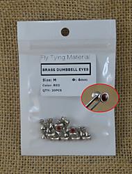 20pcs m tamanho halteres bronze vermelho olhos voar amarrando material de 4 milímetros