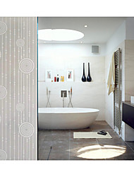 Bathroom Window Film & Stickers,  Beautiful Glass Door Sticker (100*90cm)