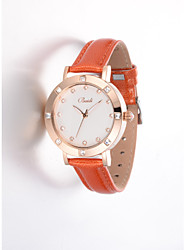 Women's Stylish Crystal Decorated Round Dial Analog fashion watch(assorted colors)