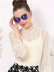 Women's   Sweet Sheer Lace Lantern Sleeve T Shirt