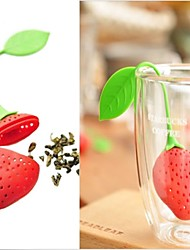 New Silicon Strawberry Design Tea Leaf Strainer