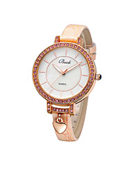 Women's Diamond Wrist Watch With Heart Pendant(Assorted Colors)