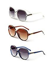 3PCS LianSan 100% UV Women's Oversized Rivet Sunglasses