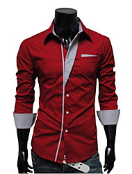 Laiersi Men's cultivate one's morality fashion long-sleeved shirt A20