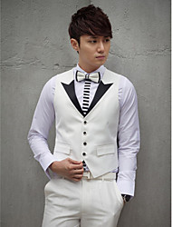 White Cotton Tailorde Fit Vest