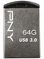 Speed ​​USB 3.0 64gb caneta estilo flash drive de metal pny micro m3 super-