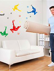 decalques de parede adesivos de parede, parede de pvc futebol adesivos