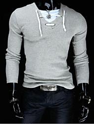 Jason Men's Casual V-Neck Long Sleeve T-Shirts