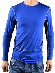 Men's 1029 PRO Sport Tight Quick Dry Anti-sweat Long Sleeve Cycling Jersey Top - Black + Blue