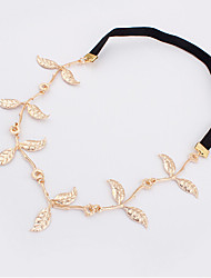 Lucky Star Women's Elegant Gold Print Leaf Type Hair Band