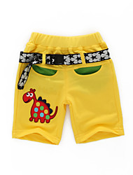 Boy's Summer Cartoon Dinosaur Inelastic Thin Shorts (100% Cotton)