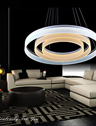 Round LED Pendant Lighting Modern Acrylic Lamps Luxurious Three Rings Ceiling Lights Fixtures 607080