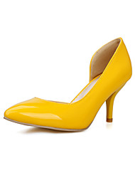 Women's Heels Spring Summer Fall Comfort PU Wedding Dress Party & Evening Stiletto Heel Black Yellow Red White Walking