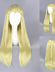 65cm Medium Straight Hobbits-Thranduil Yellow Anime Cosplay Wig